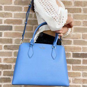 Kate Spade Large Satchel Crossbody Shoulder Bag Deep Cornflower Blue